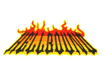 HELLBOUND Firey Sew on or Iron on Patch - H525