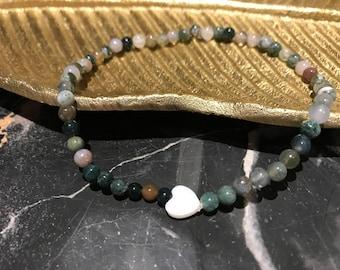 Green Jasper Beaded Anklet