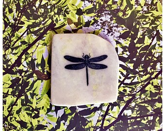 Natural Stone Coaster - Dragonfly