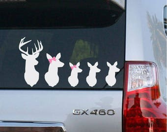 Deer Family Decal Etsy - Family car sticker decalsfamily car decal etsy