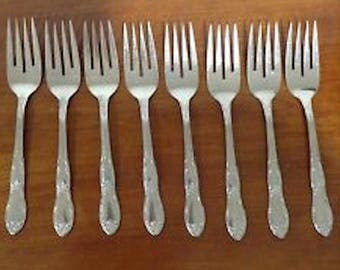 Oneida Stainless Fenway Eight Salad Forks