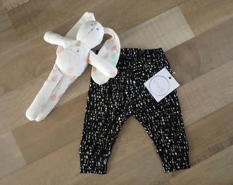 Static cuffed leggings baby and kids