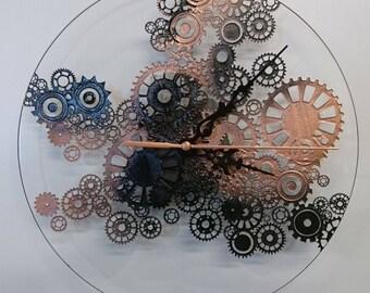 Black and copper Steampunk clock