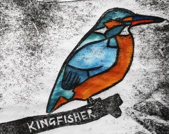 Kingfisher Card | Greetings Card | British Birds | Printed in the UK on Recycled Card