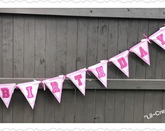 Pink Love Inspired Happy Birthday Banner