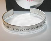 Ready to ship, mother daughter bracelets, custom cuff bracelet, mommy bracelet, mother daughter cuff, The love between a mother and daughter