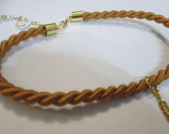 Rope choker/Choker/Rope necklace/Charm choker/short rope neck cord/chocker/necklace cord/necklace charm/Woman gift/gift woman