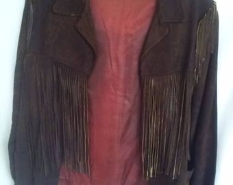 "60's Fringed Suede ""Hippie"" Jacket"