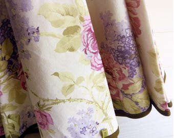Pure cotton flowers tablecloth, tablecloth made in Italy, spring, cotton, cotton, cotton tablecloth, various sizes
