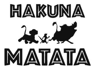 Disney's The Lion King Hakuna Matata Vinyl Decal | Simba | Timon | Pumba | Yeti Cup Decal | Disney Decal | Car Window Sticker | Laptop Decal