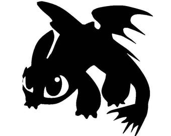 Toothless Dragon Vinyl Decal | How to Train Your Dragon | Yeti Cup Decal | Car Window Sticker | Laptop Decal |