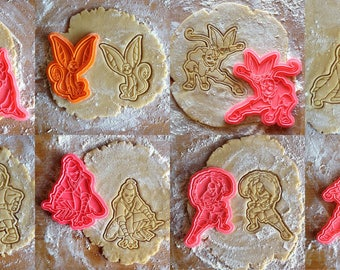 Last Airbender cookie cutters set of 8. Avatar cookie stamps