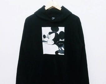 Hot Sale!!! Rare Vintage 90s MICKEY MOUSE Pullover Hoodie Sweatshirt Hip Hop Skate Swag Medium Size
