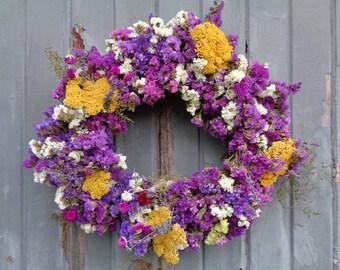 "17"" Dried Flower Wreath"