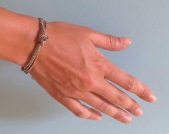 bracelet taupe gold