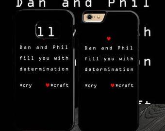 Dan and Phil Undertale - phone iphone 4 4s 5 5s 5c 6 6s 7 samsung galaxy s3 s4 s5 s6 s7 edge s8 plus case cases