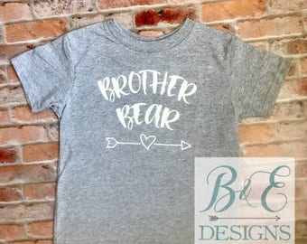 Brother Bear, Sibling Shirt, Brother Shirt, Big Brother, Little Brother, Pregnancy Announcement