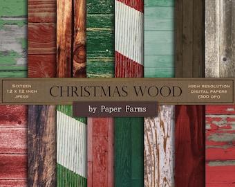 Christmas wood, Christmas wood backgrounds, rustic Christmas, rustic wood, red wood, green wood, xmas wood, Christmas wood digital paper