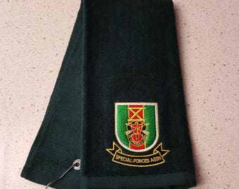 Golf Towel - Machine embroidered with SFA logo