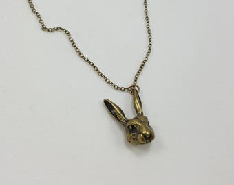 Alice in Wonderland March Hare Necklace, Mad Rabbit, Alice in Wonderland Jewelry