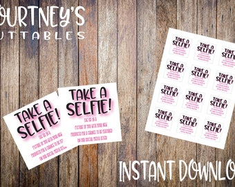 Take a selfie label design | Avery Label Marketing Printable | Package Branding | Small Business Branding