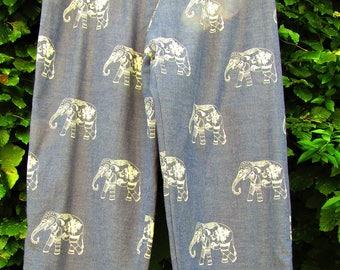 Elephant pattern trousers