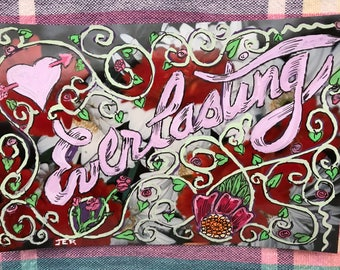 """watercolor Valentine! """"Everlasting"""" painting on photo"""
