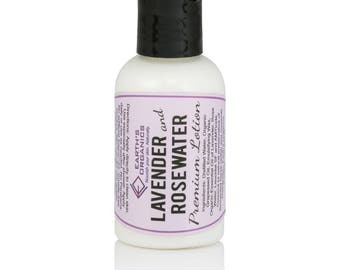 Lavender and Rose Water Lotion   Homemade, Organic, All-Natural Moisturizer made without chemicals or preservatives