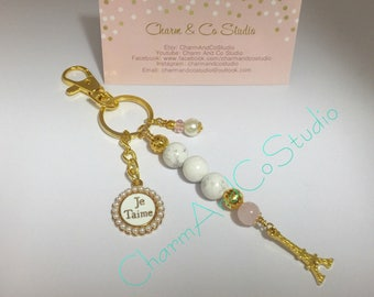 Keyring/ Keychain/ Bag Charm 'Take Me To Paris.....'