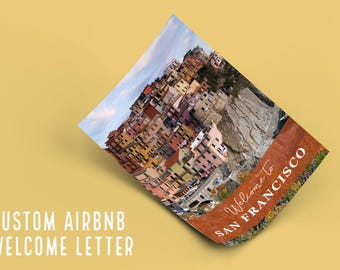 AirBnB Host Welcome Letter Template - AirBnB Guide - VRBO Host Welcome Letter - Holiday home welcome letter