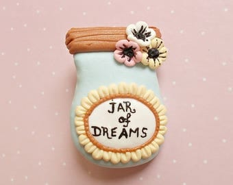 Jar of dreams brooch, Cute brooch, Flower brooch, Handmade pin, Gift for her