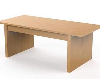 Minimalist Coffee Table - Solid Legs