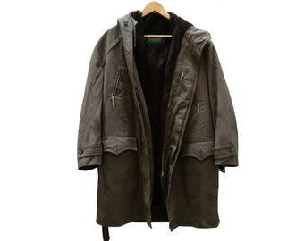Vintage ANORAK JACKET//unisex//Military green//brown//vintage clothing//vintage clothing//Eskimo/Vintage for Men/Westbury/Sale