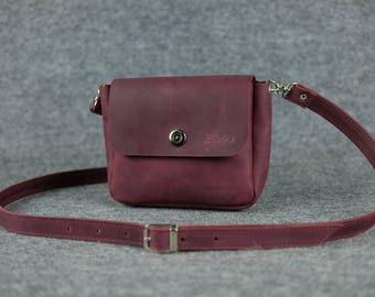 Women's crossbody bag «Macaron» MINI/ Crossbody bag, Small leather bag, Leather bag, Leather purse, Womens leather bag, Leather shoulder bag