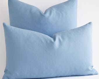 Wholesale!  18x18 Blue Pillow Covers - Decorative Throw Pillow Covers - Navy Blue Cushion Covers - Blue Pillows - Solid Navy Pillow Covers