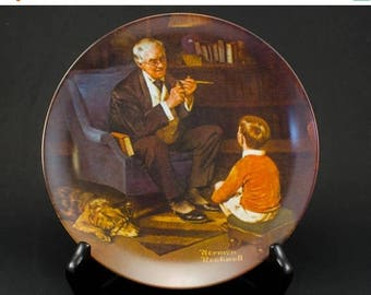 FLASH SALE Norman Rockwell Plate The Tycoon/ Knowles Rockwell Plate/ Knowles 'The Tycoon'