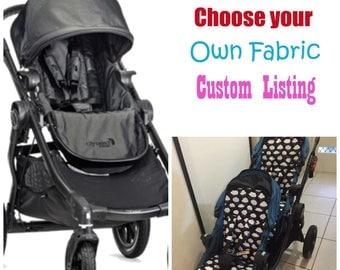 City Select Pram / Stroller Liners Custom Made - Choose your fabric