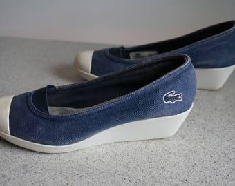 Small Vintage Women Lacoste Shoes /Size 37 /Souliers Lacoste pour dames /Pointure 37