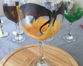 Drogon Flame Wine Glass