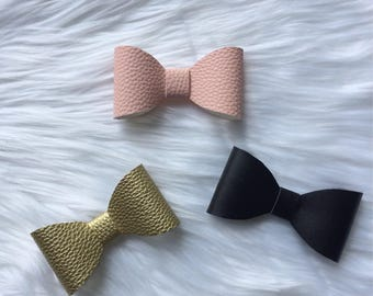 Faux Leather Bows Sets by Leigh Adore