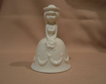 Vintage Goebel Flower Girl/Bride Porcelain Bell