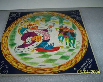 Two super cute vintage childrens round puzzles, 1960s