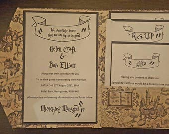 Harry potter themed wedding invitations!