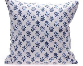 8 x Blue block print Cushions