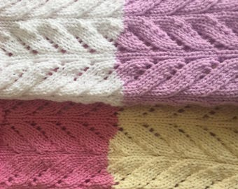 Baby Blanket - Large Striped design, ideal for cot or pram