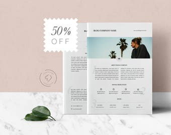 2 Page Media Kit Template for MS Word and Photoshop | Pitch Kit | Branding Kit Templates | Press Kit Template | Blogger Kit