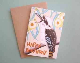 Happy Birthday Kookaburra Recycled Greeting Card