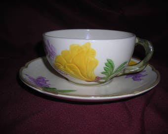 FRANCISCIAN YELLOW LILY Cup/Saucer