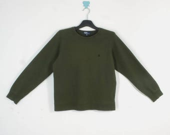 Polo Ralph Lauren Sweatshirt VINTAGE Polo Ralph Lauren Green Sweatshirt Kid's Size 160