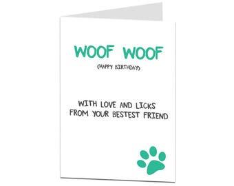 Dog Birthday Card. Funny Dog Birthday Card. Birthday Card Dog Lover. Pet Birthday Card. Dog Owner Card. Dog Present
